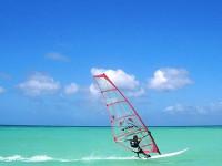 Windsurfing in Boquete Beach, Puerto Galera